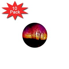 Fall Forest Background 1  Mini Buttons (10 pack)