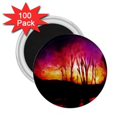 Fall Forest Background 2.25  Magnets (100 pack)