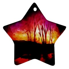 Fall Forest Background Star Ornament (Two Sides)
