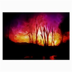 Fall Forest Background Large Glasses Cloth (2-Side)