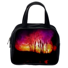 Fall Forest Background Classic Handbags (One Side)
