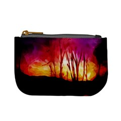 Fall Forest Background Mini Coin Purses
