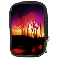 Fall Forest Background Compact Camera Cases