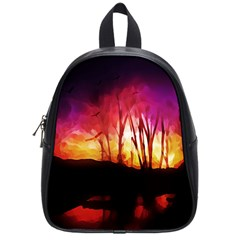 Fall Forest Background School Bags (small)
