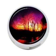 Fall Forest Background 4 Port Usb Hub (one Side)