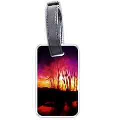 Fall Forest Background Luggage Tags (One Side)