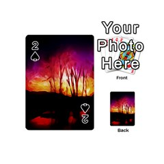 Fall Forest Background Playing Cards 54 (Mini)