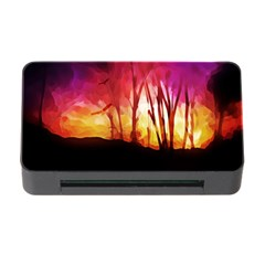 Fall Forest Background Memory Card Reader With Cf