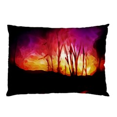 Fall Forest Background Pillow Case (Two Sides)
