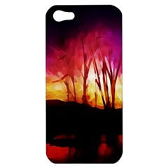 Fall Forest Background Apple iPhone 5 Hardshell Case