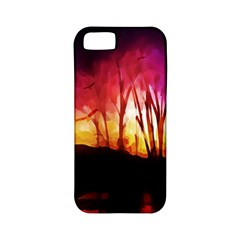 Fall Forest Background Apple Iphone 5 Classic Hardshell Case (pc+silicone)