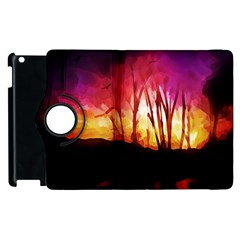 Fall Forest Background Apple iPad 2 Flip 360 Case