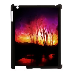 Fall Forest Background Apple Ipad 3/4 Case (black)