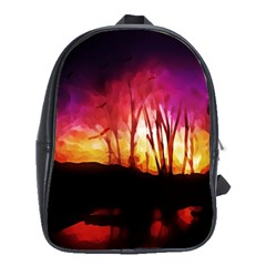 Fall Forest Background School Bags (xl)