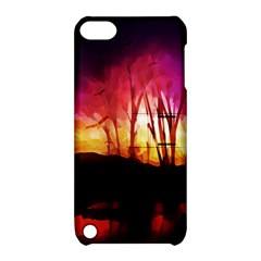 Fall Forest Background Apple iPod Touch 5 Hardshell Case with Stand