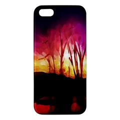 Fall Forest Background Apple iPhone 5 Premium Hardshell Case