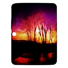 Fall Forest Background Samsung Galaxy Tab 3 (10 1 ) P5200 Hardshell Case