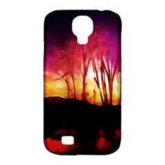 Fall Forest Background Samsung Galaxy S4 Classic Hardshell Case (pc+silicone)