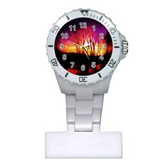 Fall Forest Background Plastic Nurses Watch