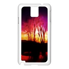 Fall Forest Background Samsung Galaxy Note 3 N9005 Case (white)
