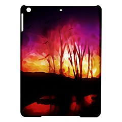 Fall Forest Background Ipad Air Hardshell Cases