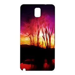 Fall Forest Background Samsung Galaxy Note 3 N9005 Hardshell Back Case