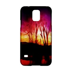 Fall Forest Background Samsung Galaxy S5 Hardshell Case