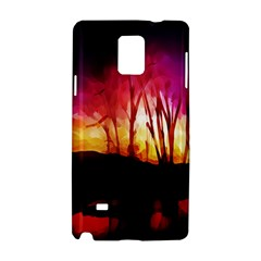 Fall Forest Background Samsung Galaxy Note 4 Hardshell Case