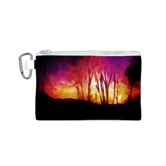 Fall Forest Background Canvas Cosmetic Bag (s)
