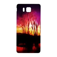 Fall Forest Background Samsung Galaxy Alpha Hardshell Back Case