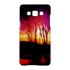 Fall Forest Background Samsung Galaxy A5 Hardshell Case