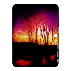 Fall Forest Background Samsung Galaxy Tab 4 (10 1 ) Hardshell Case
