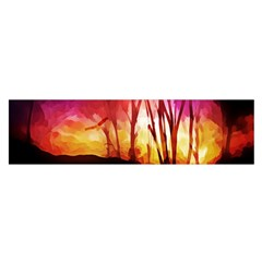 Fall Forest Background Satin Scarf (oblong)