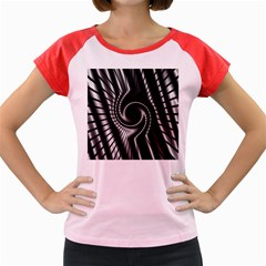 Abstract Background Resembling To Metal Grid Women s Cap Sleeve T-Shirt