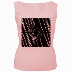 Abstract Background Resembling To Metal Grid Women s Pink Tank Top