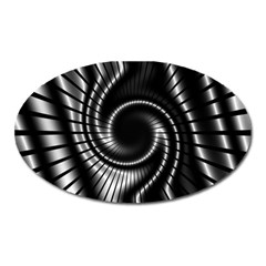 Abstract Background Resembling To Metal Grid Oval Magnet