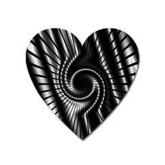 Abstract Background Resembling To Metal Grid Heart Magnet