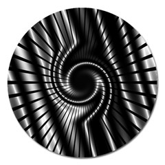 Abstract Background Resembling To Metal Grid Magnet 5  (Round)