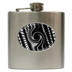 Abstract Background Resembling To Metal Grid Hip Flask (6 Oz)