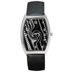 Abstract Background Resembling To Metal Grid Barrel Style Metal Watch