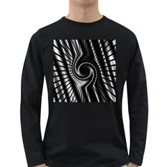 Abstract Background Resembling To Metal Grid Long Sleeve Dark T-Shirts
