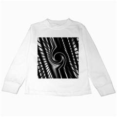 Abstract Background Resembling To Metal Grid Kids Long Sleeve T Shirts