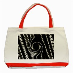 Abstract Background Resembling To Metal Grid Classic Tote Bag (red)