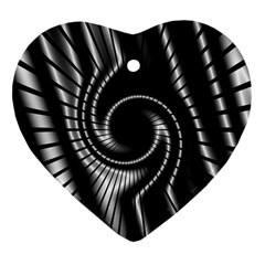 Abstract Background Resembling To Metal Grid Heart Ornament (two Sides)
