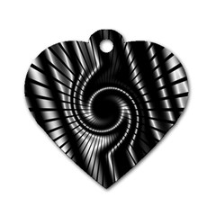 Abstract Background Resembling To Metal Grid Dog Tag Heart (One Side)