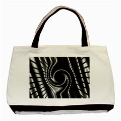 Abstract Background Resembling To Metal Grid Basic Tote Bag (Two Sides)