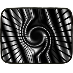 Abstract Background Resembling To Metal Grid Double Sided Fleece Blanket (mini)