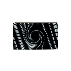 Abstract Background Resembling To Metal Grid Cosmetic Bag (Small)