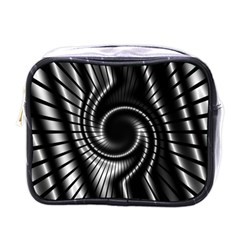 Abstract Background Resembling To Metal Grid Mini Toiletries Bags