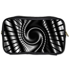 Abstract Background Resembling To Metal Grid Toiletries Bags